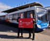 Graeme Bell, Inverness Airport and Mark Whitelocks, Stagecoach North Scotland officially launched contactless payments on over 360 buses