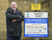 Elgin South councillor John Divers at the town's North Port car park.