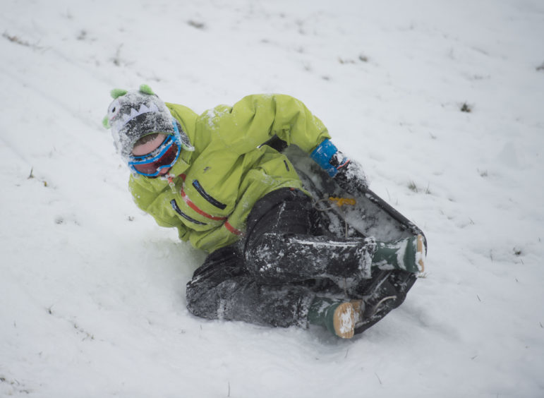 Snow Pics of Rhys Taylor, 10 in Aberlour.
