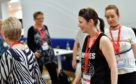 Sarah Dalgarno, second right, rehearsing for Courage on the Catwalk.
