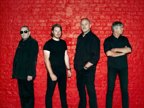The Stranglers in 2018, with JJ on the far left.