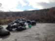 Bags of rubbish have been dumped at White Cow Wood near Mintlaw.