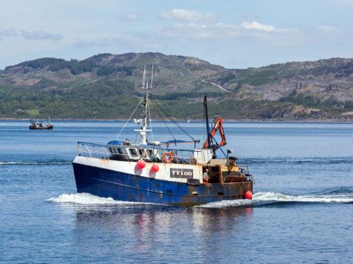 Fishing boat Nancy Glen sank in Loch Fyne, Argyll
