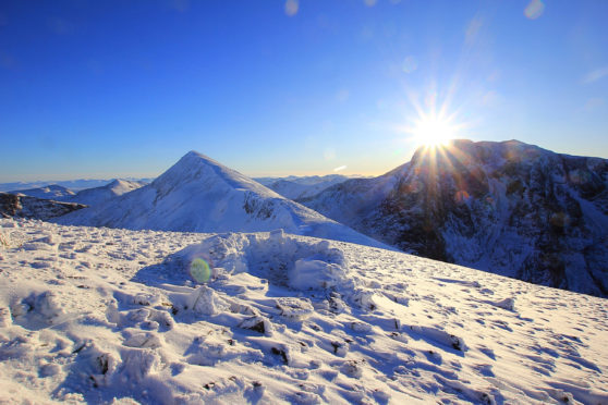 Thick snow on Ben Nevis.
