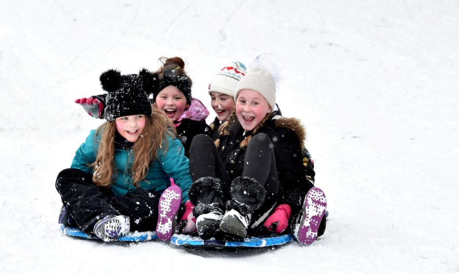 The Beast from the East - Banchory Golf Club was the venue for some fun in the snow for local children whose schools have closed. 