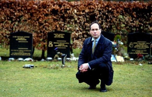 Councillor Martin Greig at Hazlehead cemetery
