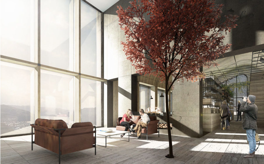 Artist's impression of the courtyard