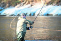 Pictures show the official opening of the River Spey for fishing.
