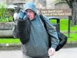 Bryan Reid leaving Elgin Sheriff Court, Moray.