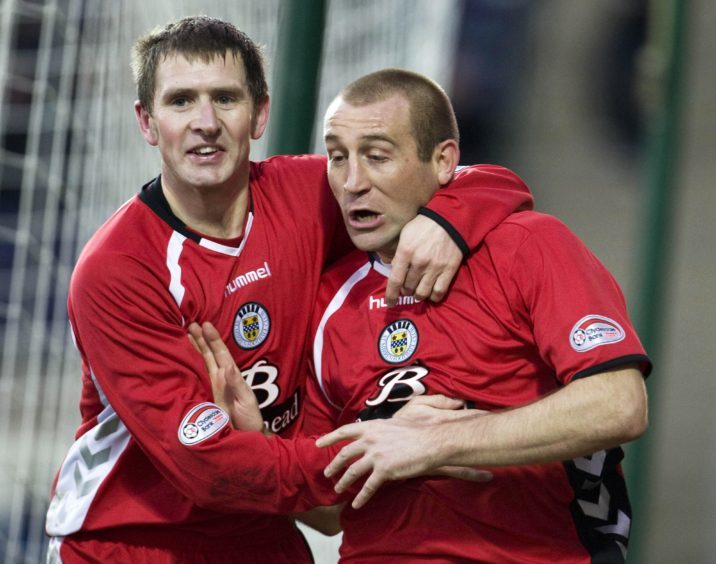 Wyness and Jim Hamilton during his spell with St Mirren.