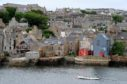 Picture by SANDY McCOOK    20th June '17 Orkney File Pics. Architecture, old and new at the waterfront in Stromness, Orkney.