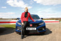 Vicki Butler-Henderson with the Honda Civic Type R Pic by May Starey.