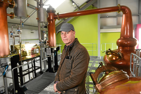 Picture by SANDY McCOOK    10th April '18 David O'Connor, Chairman of the Glen Wyvis Distillery who has concerns over parking charges in Dingwall.