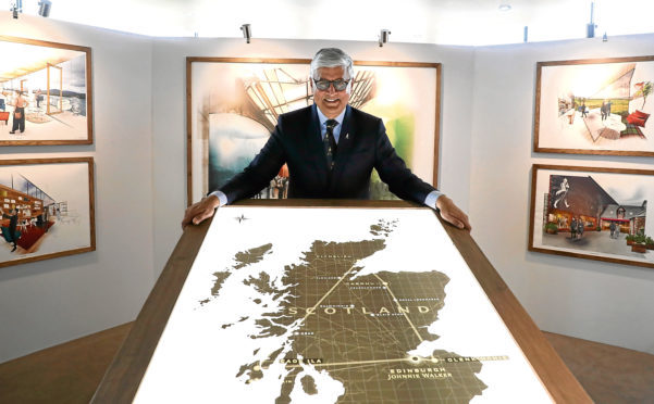 "Ivan Menezes, chief executive of Diageo at their headquarters in Edinburgh where he announced a £150 million investment over three years to ""transform"" its Scotch whisky visitor experiences. PRESS ASSOCIATION Photo. Picture date: Monday April 16, 2018. See PA story INDUSTRY Diageo. Photo credit should read: Andrew Milligan/PA Wire"