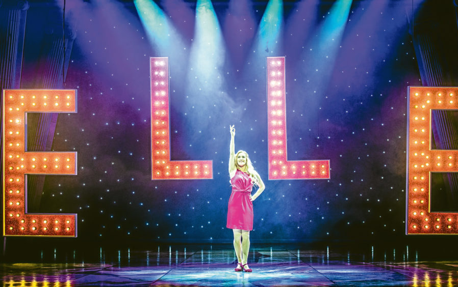 Lucie Jones, as Elle Woods, takes the applause