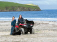 Aimee and Kirsty Budge at Bigton farm, Shetland