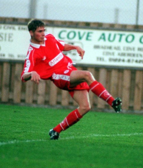 Wyness in his early days in the Aberdeen reserves.