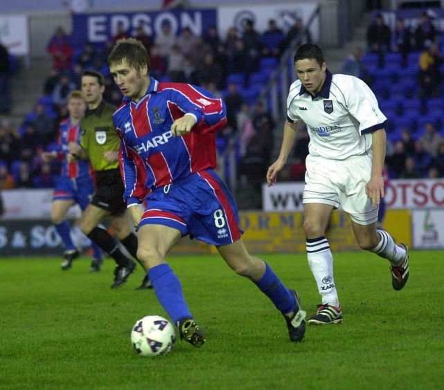 Dennis Wyness during his first spell with Caley Thistle.