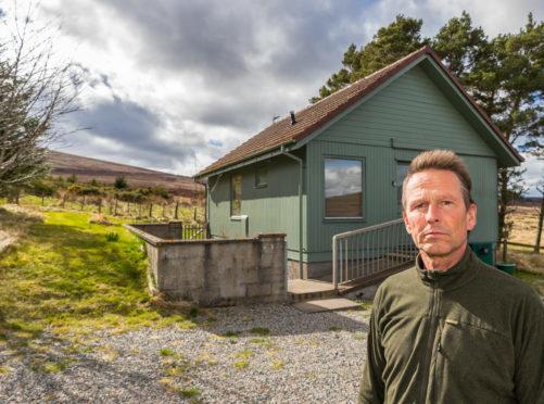 Joerg Bondzio outside his Holiday home within his Sporting Scotland estate at Corglass Lodge, Ballindalloch.