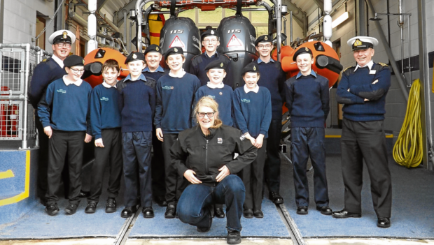 The Inverness Sea Cadets paid a visit to the RNLI Loch Ness station, where they learned about rescues, the dangers faced by volunteers, and first aid skills