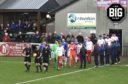 Highland League first leg playoffs, Cover Rangers 4 - 0 Spartans.