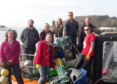 Two boat loads of rubbish were collected by volunteers from a remote beach on the isle of Mull yesterday