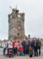 Campaigners outside Dufftown's clock tower