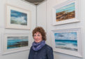 This is Frances Innes with some of her paintings on display at Elgin Museum, Moray on Friday 27 April 2018. Picture taken by Brian Smith T/A Jasperimage on 27 April 2018.