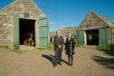 Cabrach Trust chairman Grant Gordon and executive director Sue Savege at Inverharroch.