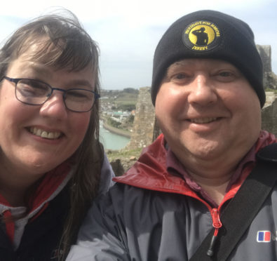 Holidays for Heroes Jersey – Karla and Chris Buswell enjoying their break in Jersey thanks to the Holiday for Heroes charity.