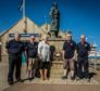 Anne Mould with members of the Fraserburgh Lifeboat Crew.