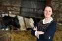 Angela Findlay, at the family farm, Old Echt Farm, Echt, Aberdeenshire.