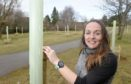 Emma Whitham, the Founding Director of Moo Food, owners of the community orchard in Muir of Ord which was damaged at the weekend but the community rallied round and all has now been restored.
