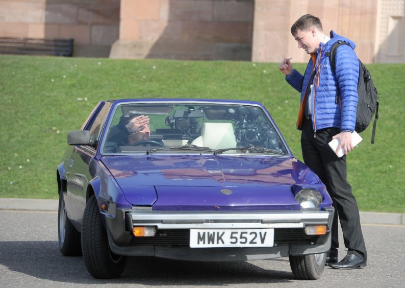 Press and Journal reporter Chris MacLennan interviews Richard Hammond as filming comes to a close.