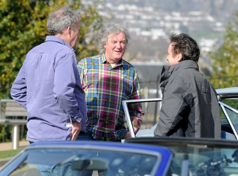 'The Grand Tour' with Richard Hammond, James May and Jeremy Clarkson finished their North Coast 500 filming at Inverness Castle yesterday morning.