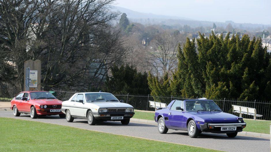 The trio's cars