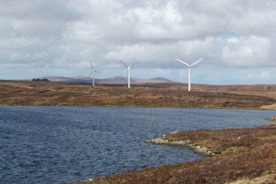 Beinn Ghrideag — Point and Sandwick Trust's existing community-owned wind farm just outside Stornoway