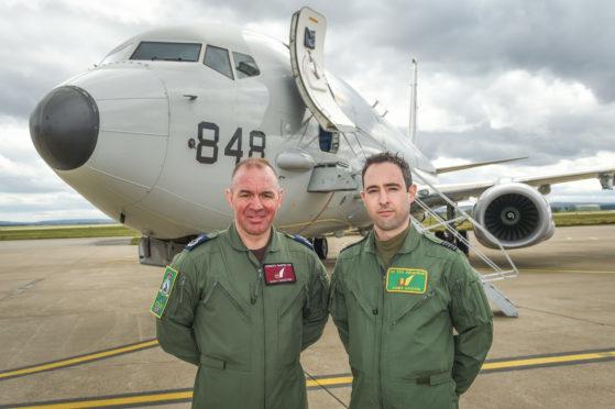 Master Aircrew Gary Banford and Wing Commander James Hanson will soon be serving on Poseidon aircraft at RAF Lossiemouth.