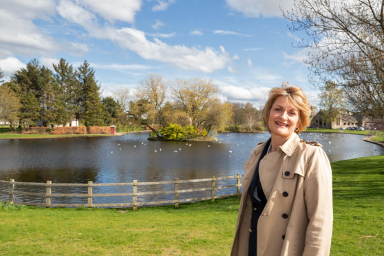 Rhona Gunn, Moray Council's director for economic development, in Elgin's Cooper Park, which could soon become the town's Cultural Quarter.