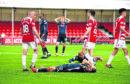 Dejection for Alex Schalk (10) as he misses a good chance to score