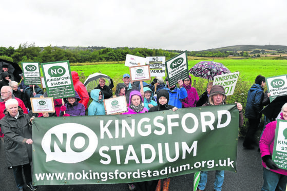 The No Kingsford Stadium protest group