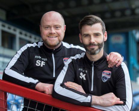 Ross County co-managers Steven Ferguson and Stuart Kettlewell.