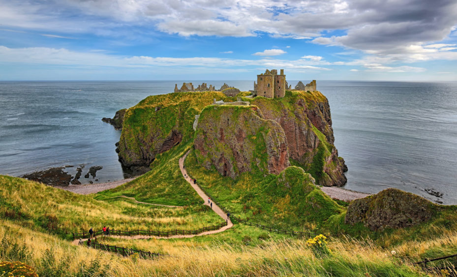 Medieval fortress Dunnottar Castle
