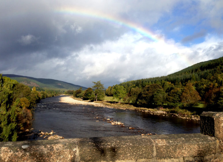 An autumn view of the River Dee