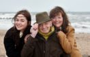 Brave model Joe McGunnigle with daughter Karen Sedgwick and grandaughter Cassie McGunnigle. Picture by Colin Rennie.