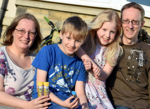 In the picture are from left: Alison Dempster, mum, James Dempster, Megan Dempster, sister, and dad John Dempster