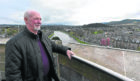 Inverness Castle Viewing Platform Tony Clarke from Stockport enjoys the view from the platform up the River Ness.