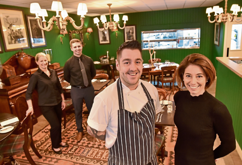 Rothesay Rooms staff, from left Jo Croll, Edward Riley, head chef Ross Cochrane and Nikki Dean
