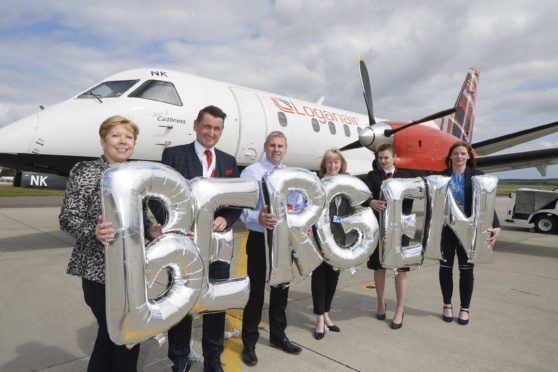 Loganair will provide three flights per week from Inverness Airport to Bergen in Norway