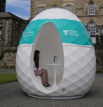 Visitors will enter the specially-made pod to record their thoughts about what makes Scotland such a special place.
